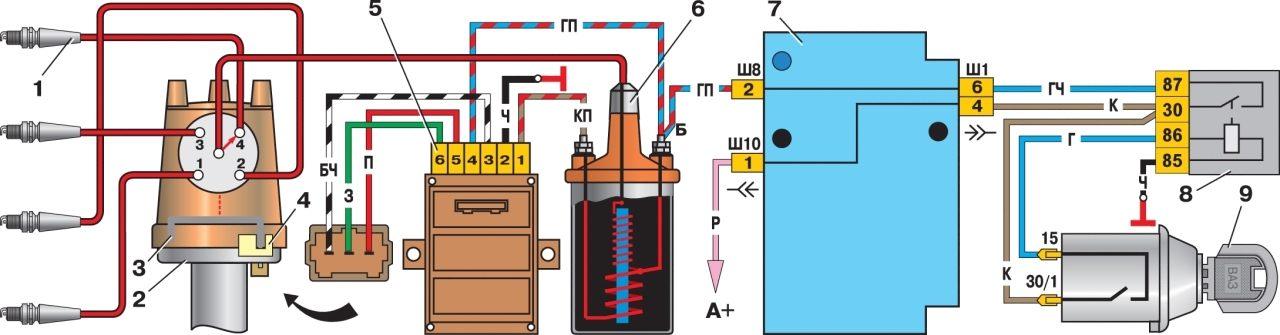 Схема двигателя ваз 2107 карбюратор фото 277