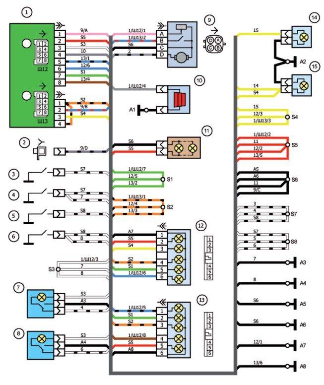 Схема электрических соединений эсуд фото 275