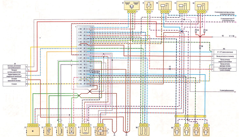 Схема инжектора ваз 21074 фото 112