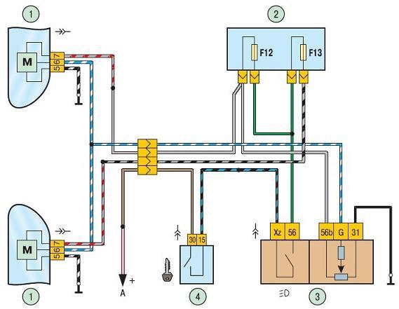Фото электрической схемы корректора фар
