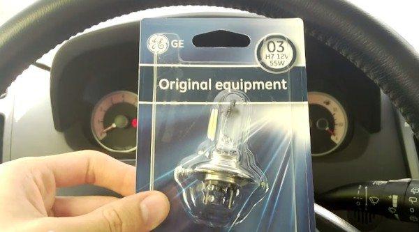 Лампа ближнего света на Kia Ceed производства Дженерал Электрик устанавливается и в заводской комплектации