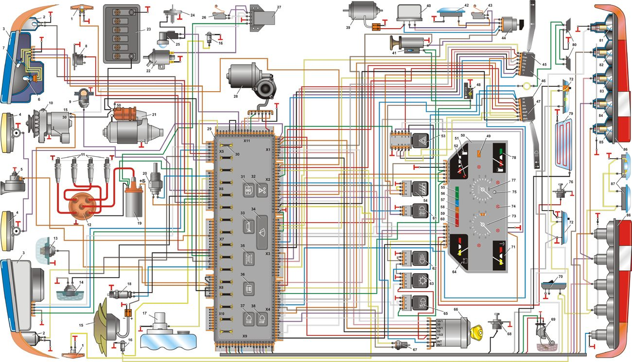 м-412 иж электрооборудования схема