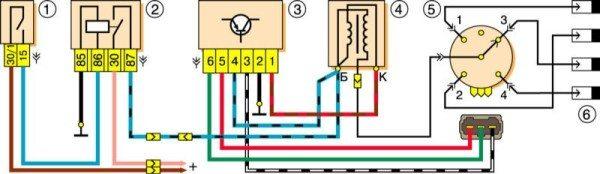 provodka vaz 2121 600x174 - Схема зарядки нива 2121