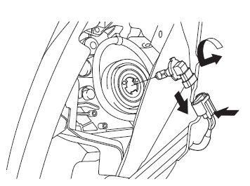 Схема демонтажа лампочки на Civic 4D