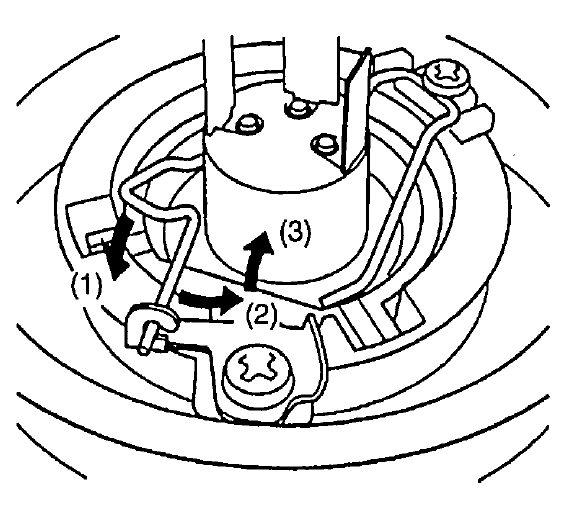 Схема демонтажа пружинки