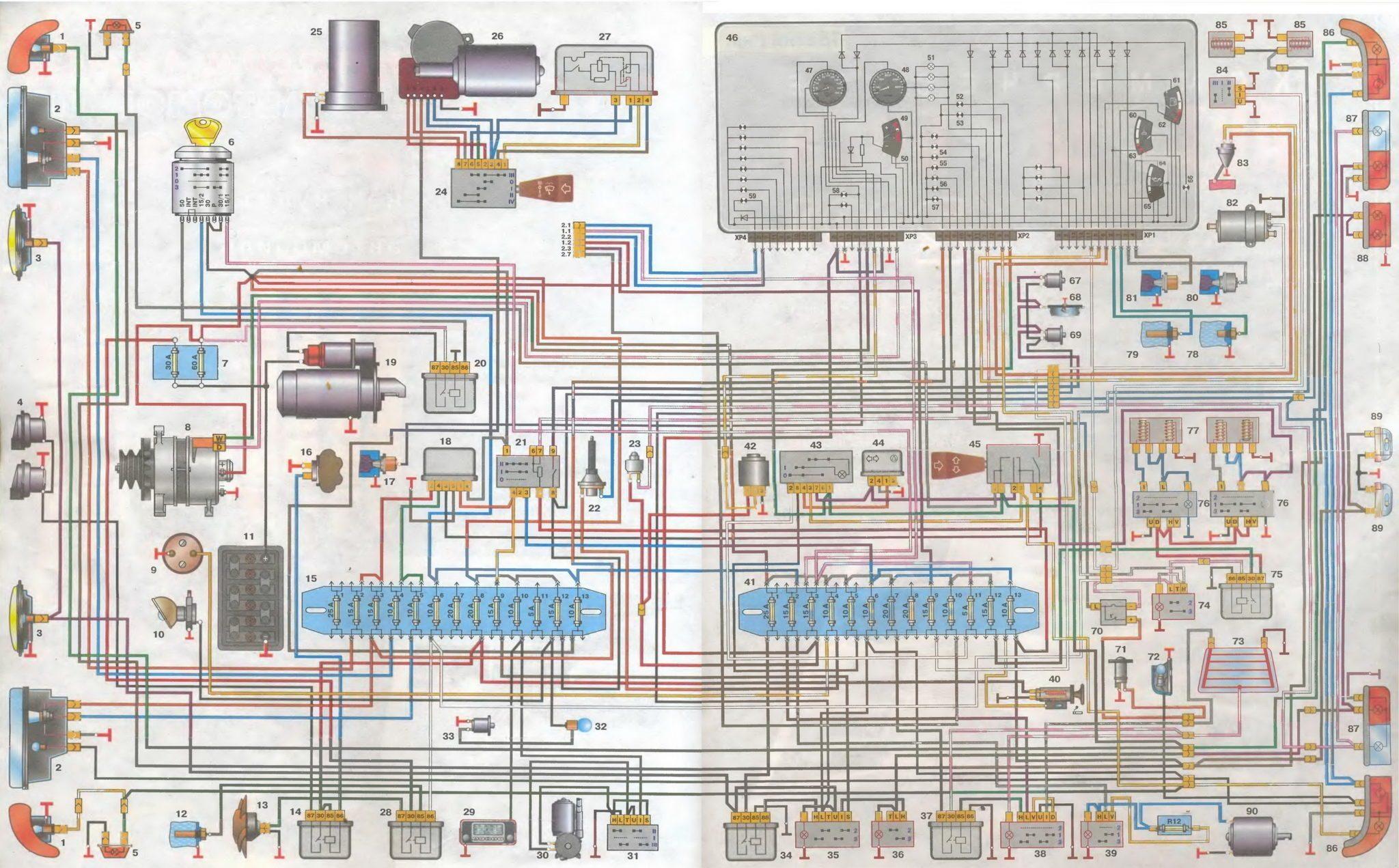 Электросхема газ 3110 змз 406 698