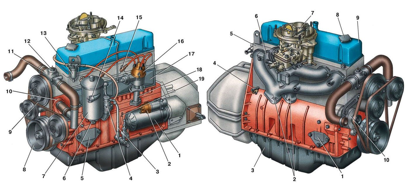 схема электропроводки Газель 402 двигатель