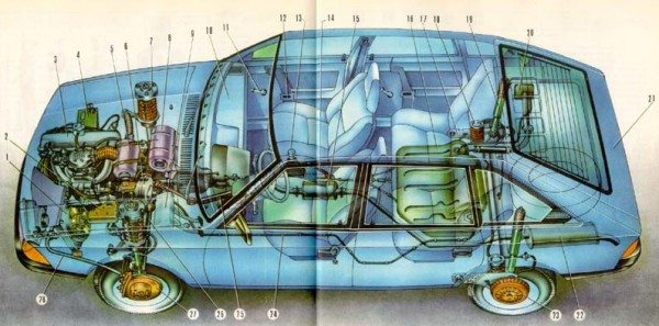 схема электропроводки москвич 2141