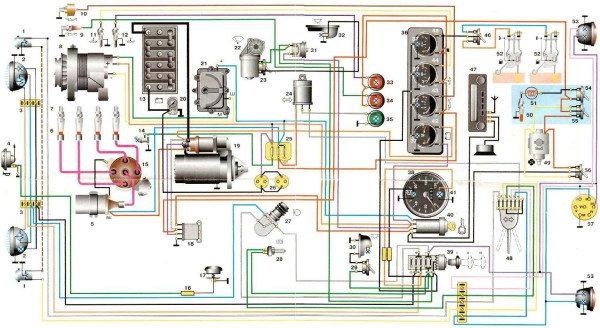 схема электропроводки уаз 469