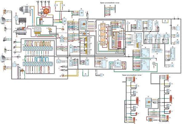 схема электропроводки уаз хантер