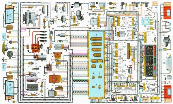 схема электропроводки ваз 21093