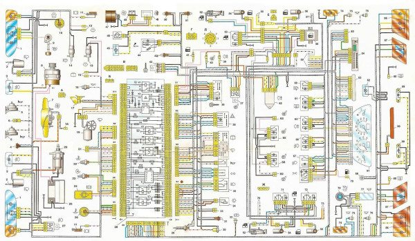 схема электропроводки ваз 2115