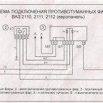 Схема подключения противотуманных фар на ВАЗ