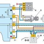 Схема подключения реле поворотов и аварийной сигнализации