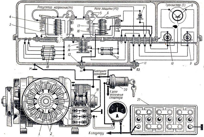 Схема электрооборудования газ 3307 цветная фото 281