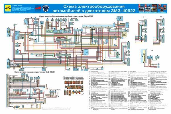 схема проводки Газель 405