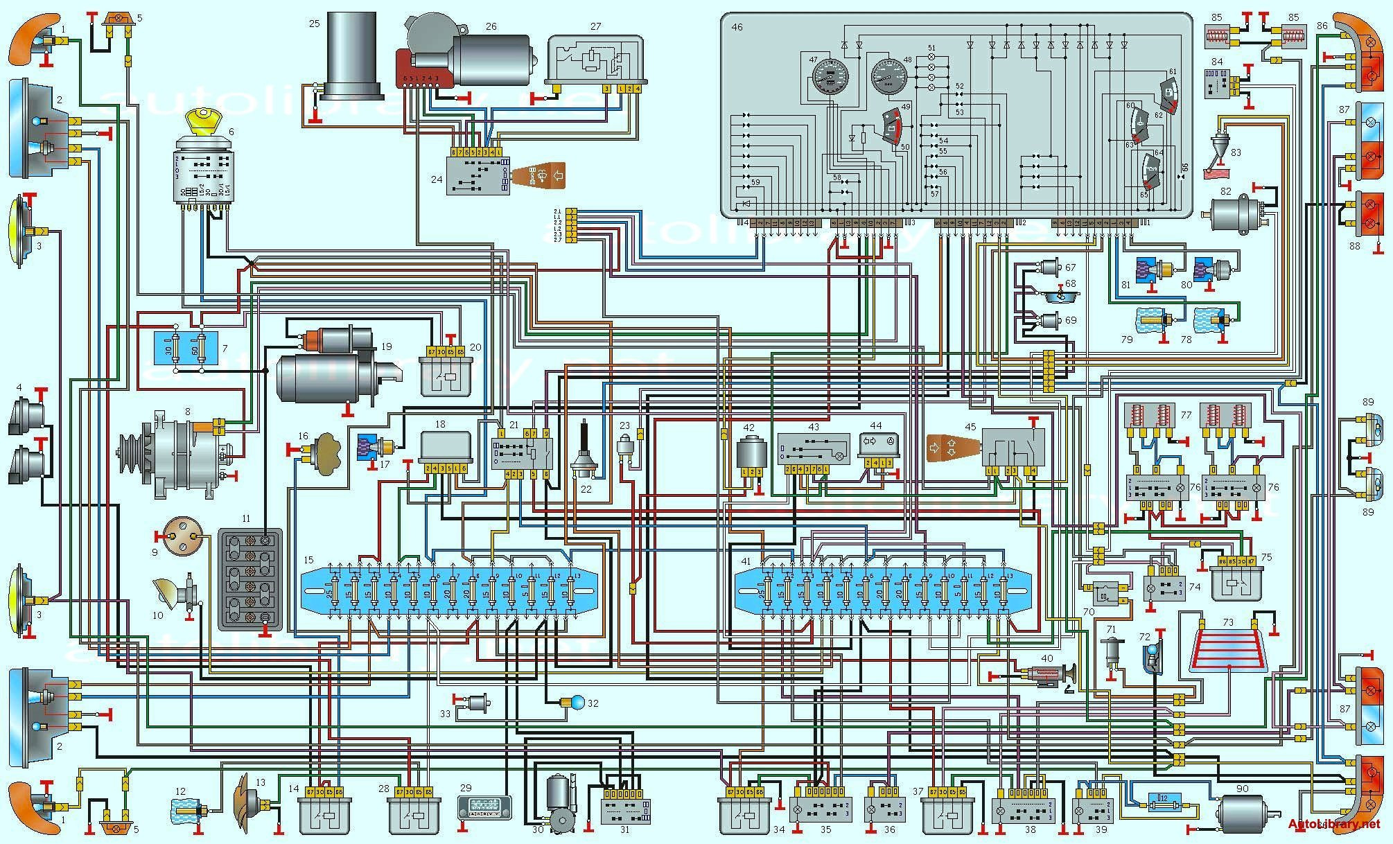 Схема электропроводки газель бизнес