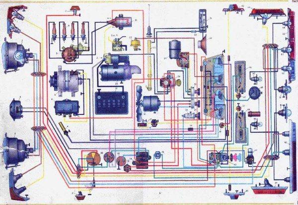 схема проводки москвич 412