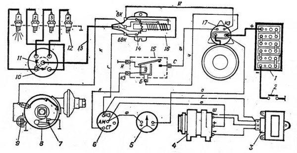 схема проводки уаз 469