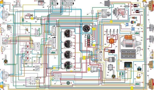 shema provodki uaz s obychnymi podrulevymi pereklyuchatelyami 600x350 - Электросхема уаз 220695 04