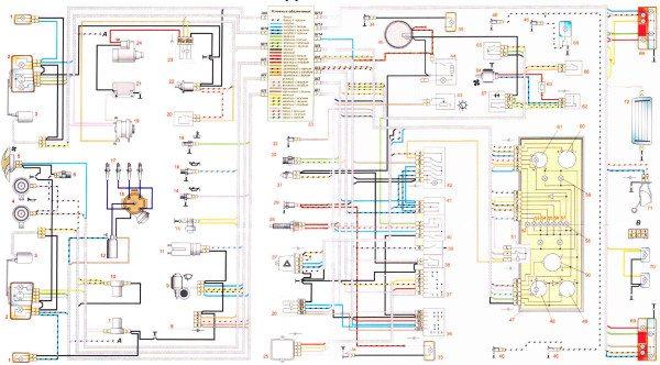 схема проводки ваз 2107 инжектор