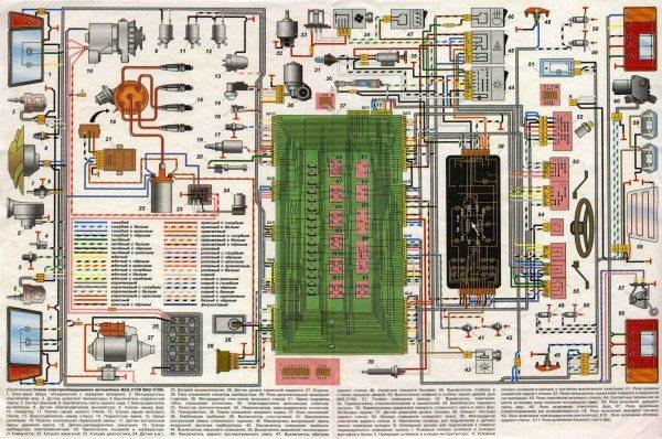 схема проводки ваз 21093 на инжектор
