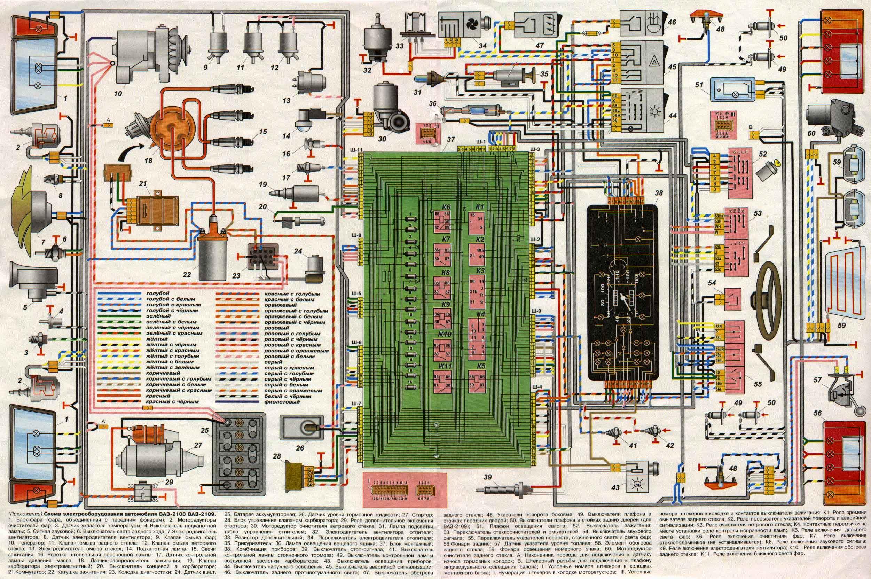 Схема электропроводки 405 инжектор
