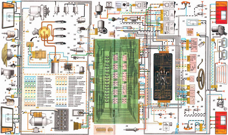 Ваз 21099i схема электрическая 864