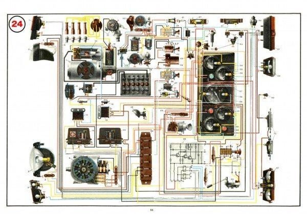 Учебный плакат для воинских частей по схеме электрооборудования ЛуАЗ