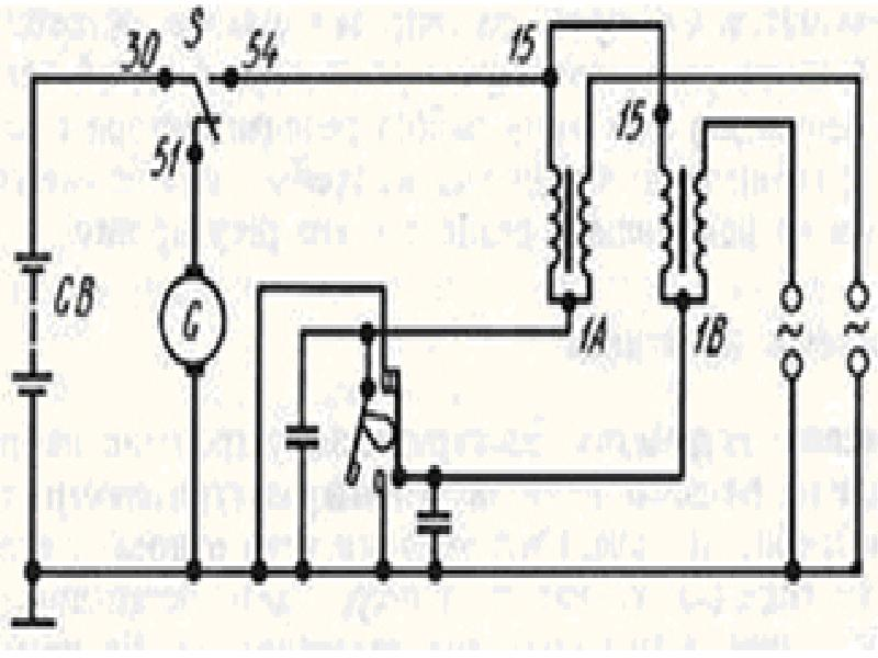 Заводская схема проводки Ява 634 6в: первичная и вторичная цепи