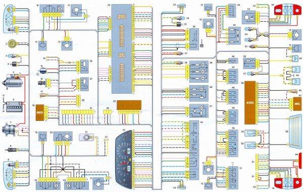 Заводская цветная схема: электропроводка Нива Шевроле с двигателем ВАЗ 2123