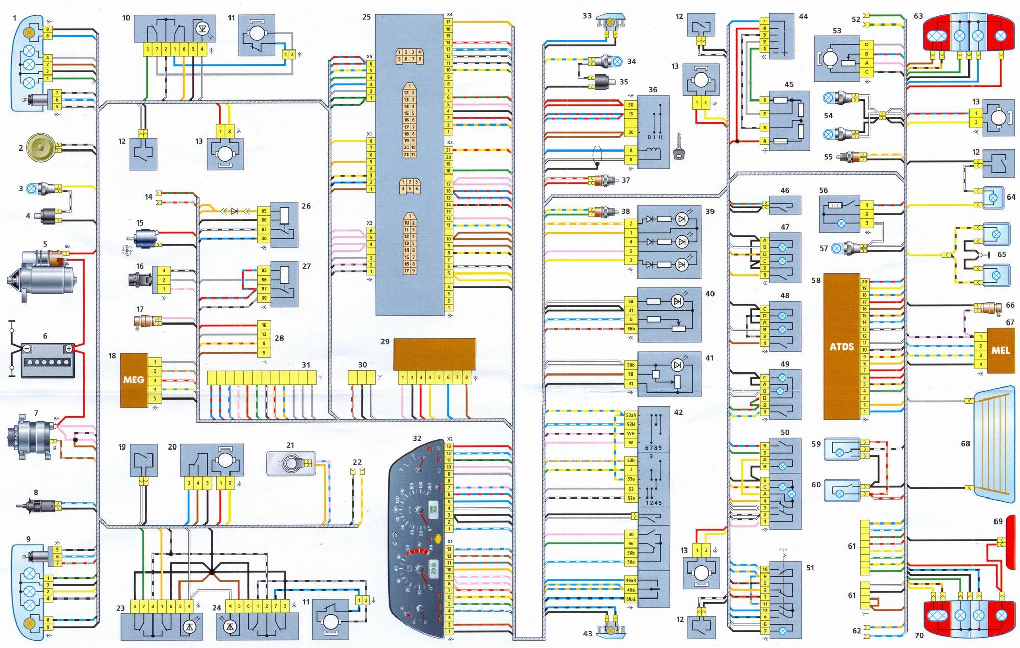 схема электрооборудования шевроле ланос