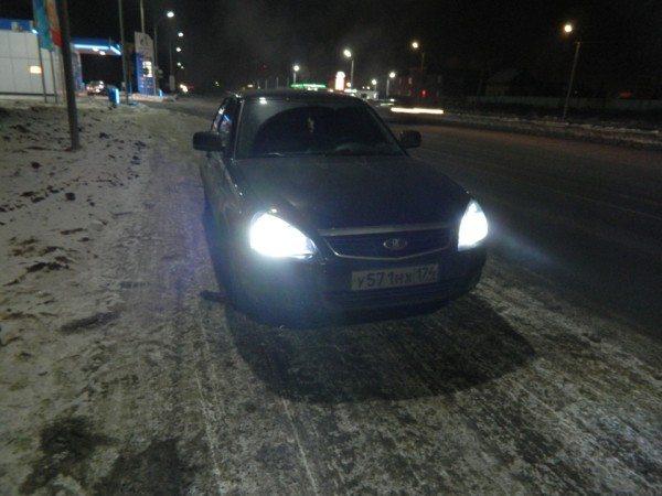 Ближнее освещение автомобиля Лада Приора