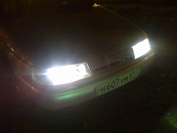 Ближний свет автомобиля ВАЗ 2110