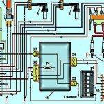 Электрическая схема микропроцессорной системы зажигания Москвич