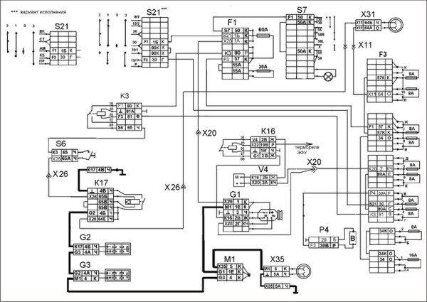 Электропроводка КАМАЗ 5320 для модификации с 2кВт генератором