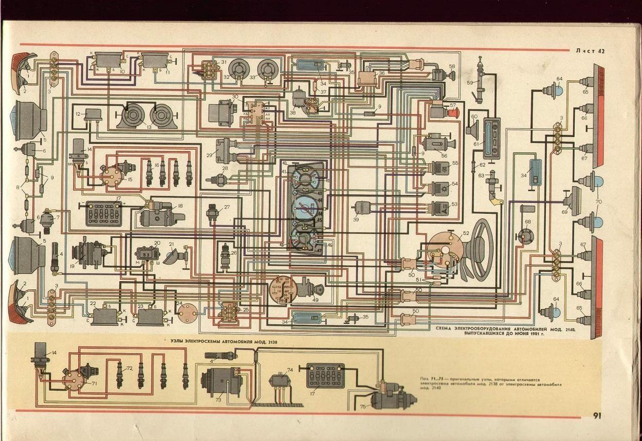 панель приборов москвич иж412 схема