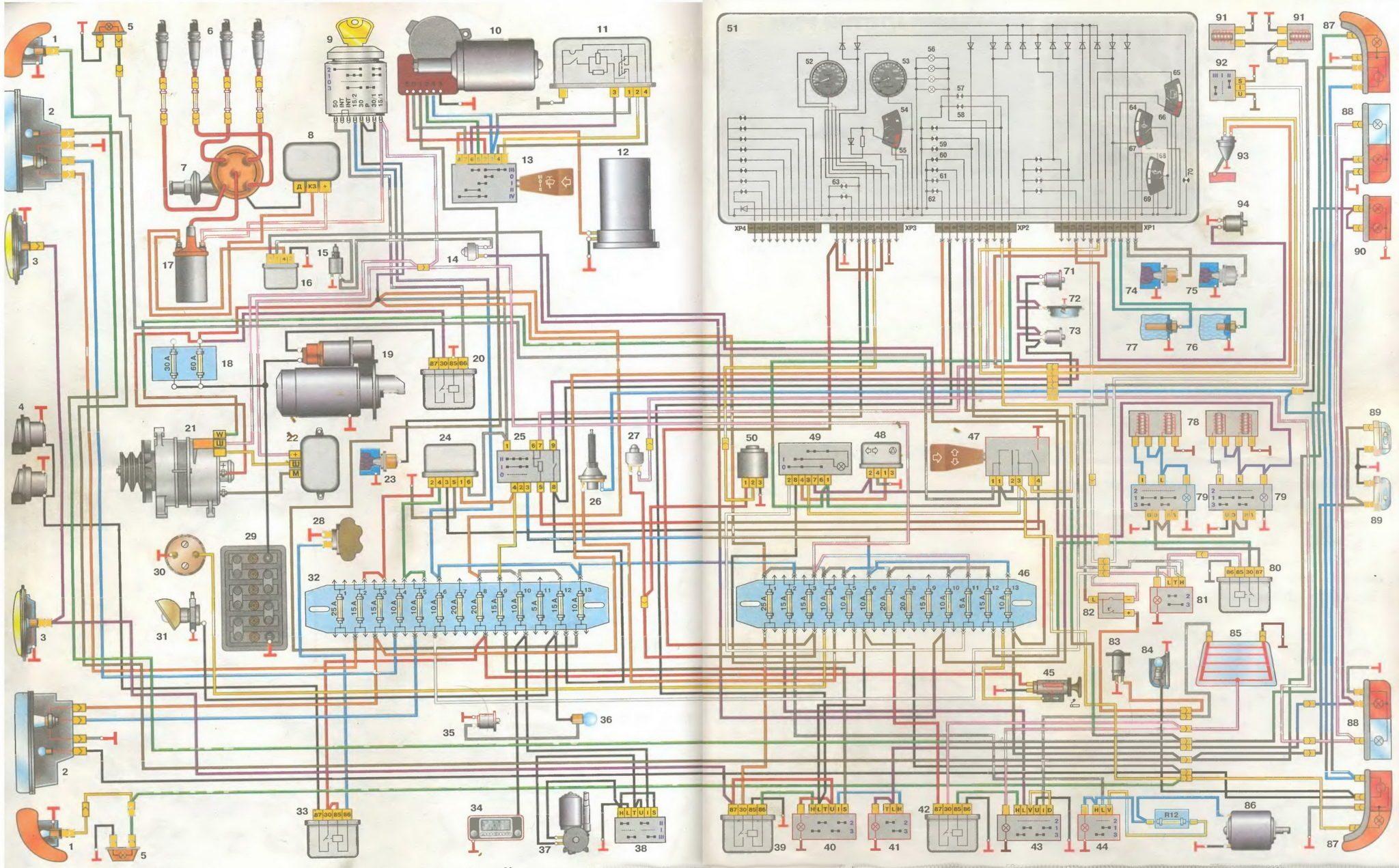 принципиальная электросхема приборного щитка газель бизнес