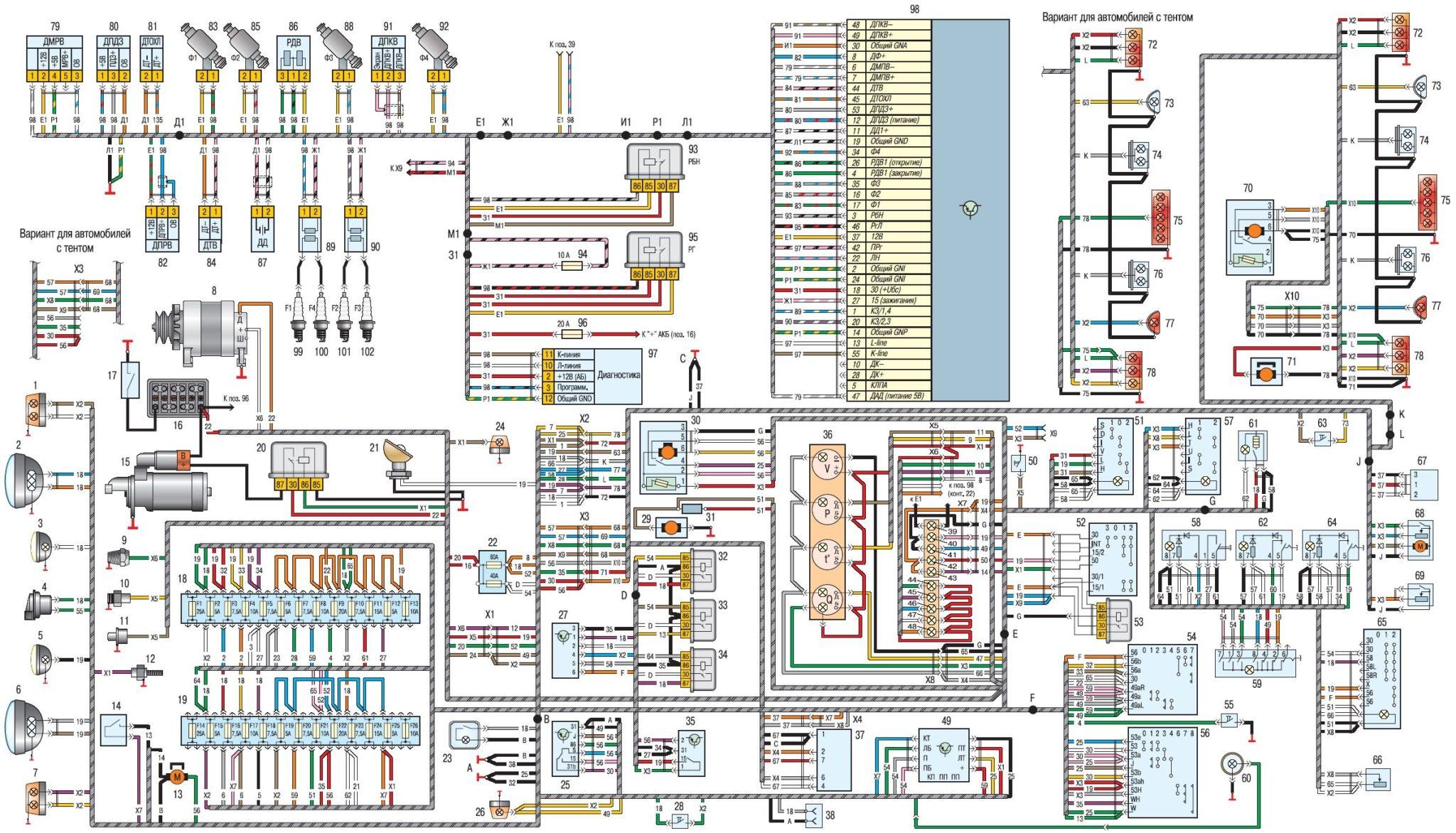 Схема проводов в уазе