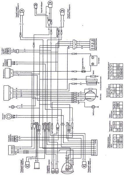 Оригинальная схема электропроводки мопеда Дельта
