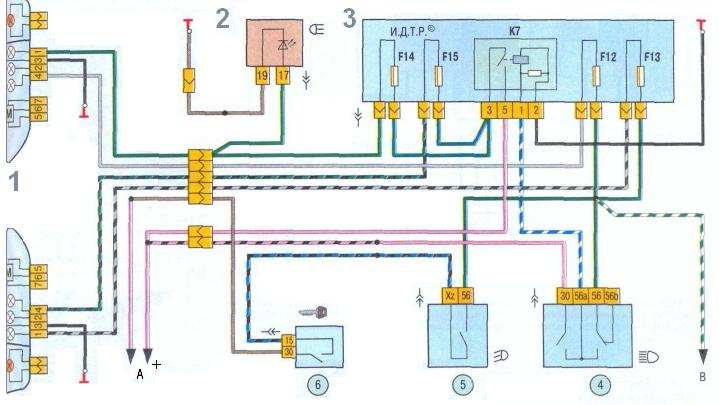 схема проводки Лада Калина