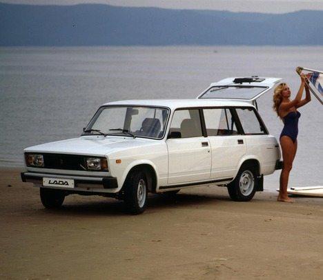 Оригинальное фото рекламного плаката ВАЗ 2104