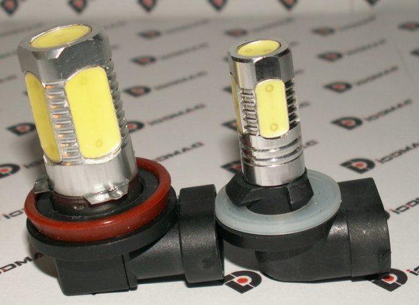 Подобные светодиодные лампы в фары ВАЗ 2110 способны улучшить их работу