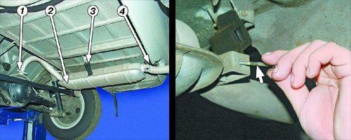 При установке фаркопа на «классику» нужно учитывать точки крепления других узлов и агрегатов