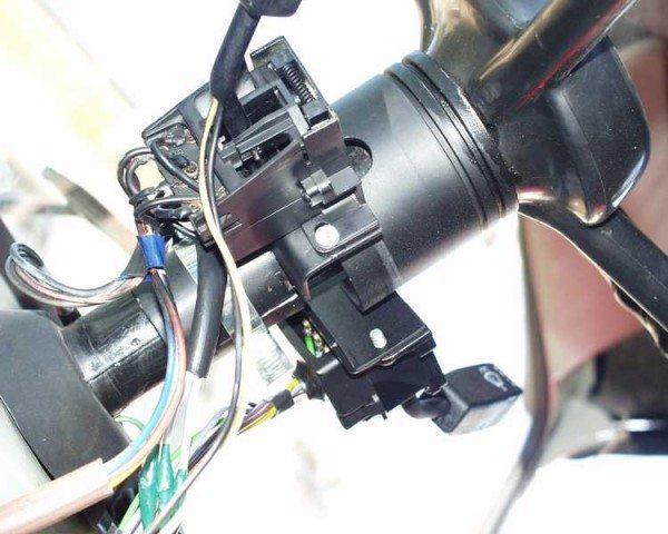 Процесс установки многофункционального переключателя