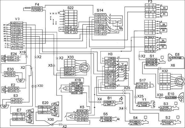 Проводка КАМАЗ 5320 наружной световой сигнализации