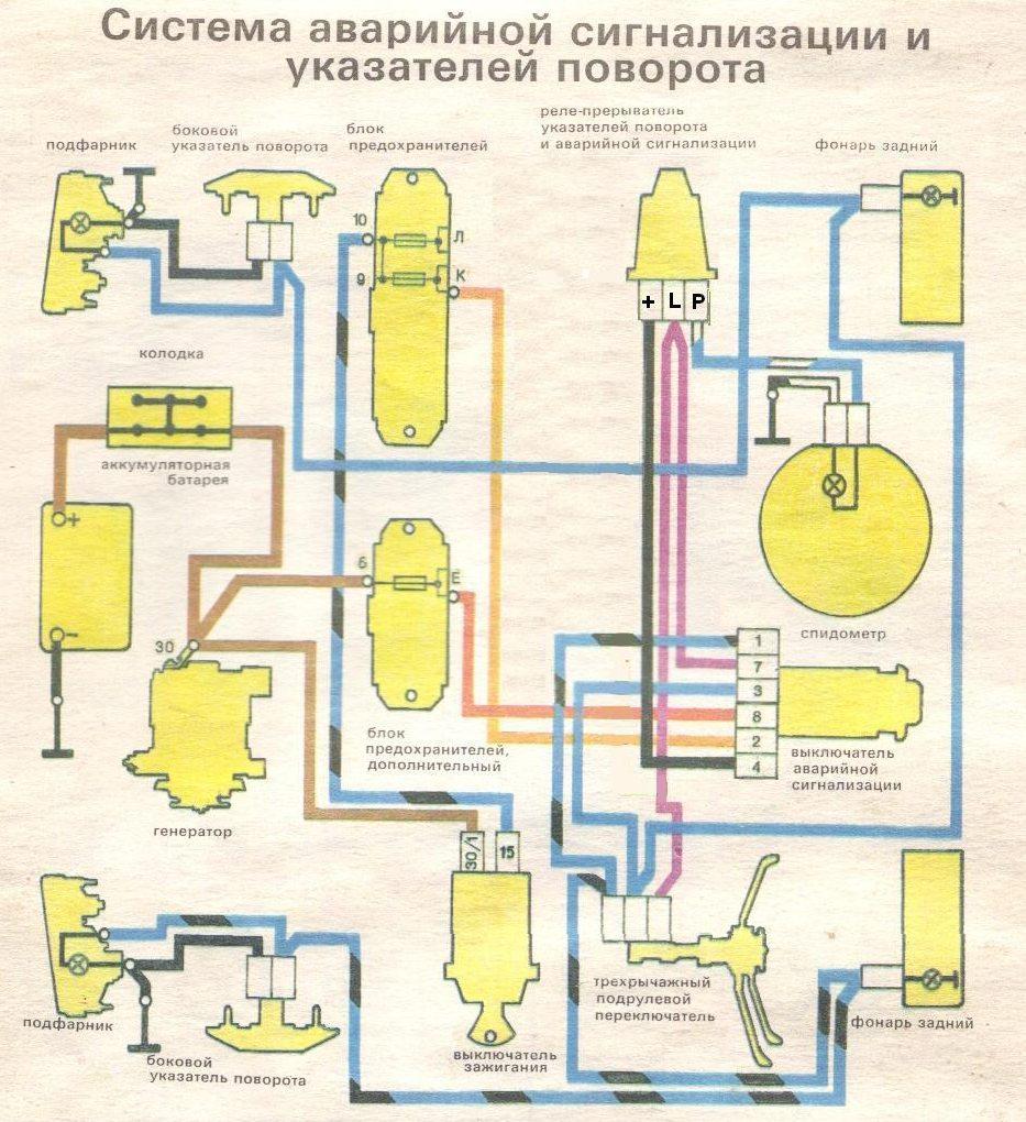 схема системы электроснабжения ваз 2101