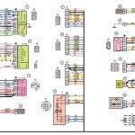 Схема электрических соединений жгута проводов панели приборов Лада 21054