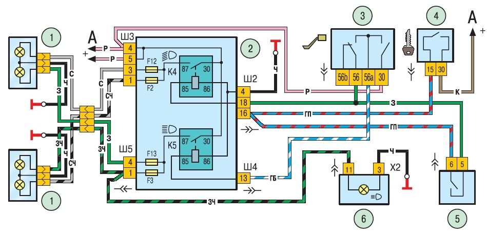 Схема проводки шевроле нива