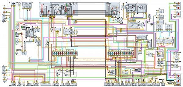 схема электропроводки газель
